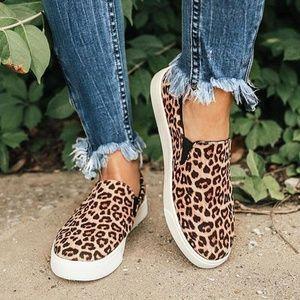 Brand New Leopard Slip Ons